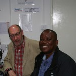 Sipho and Mike in the shack